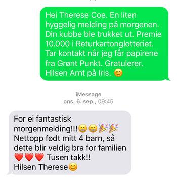Meldingen fra Therese
