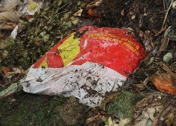 Bæreposer i plast skal ikke i matavfallet.