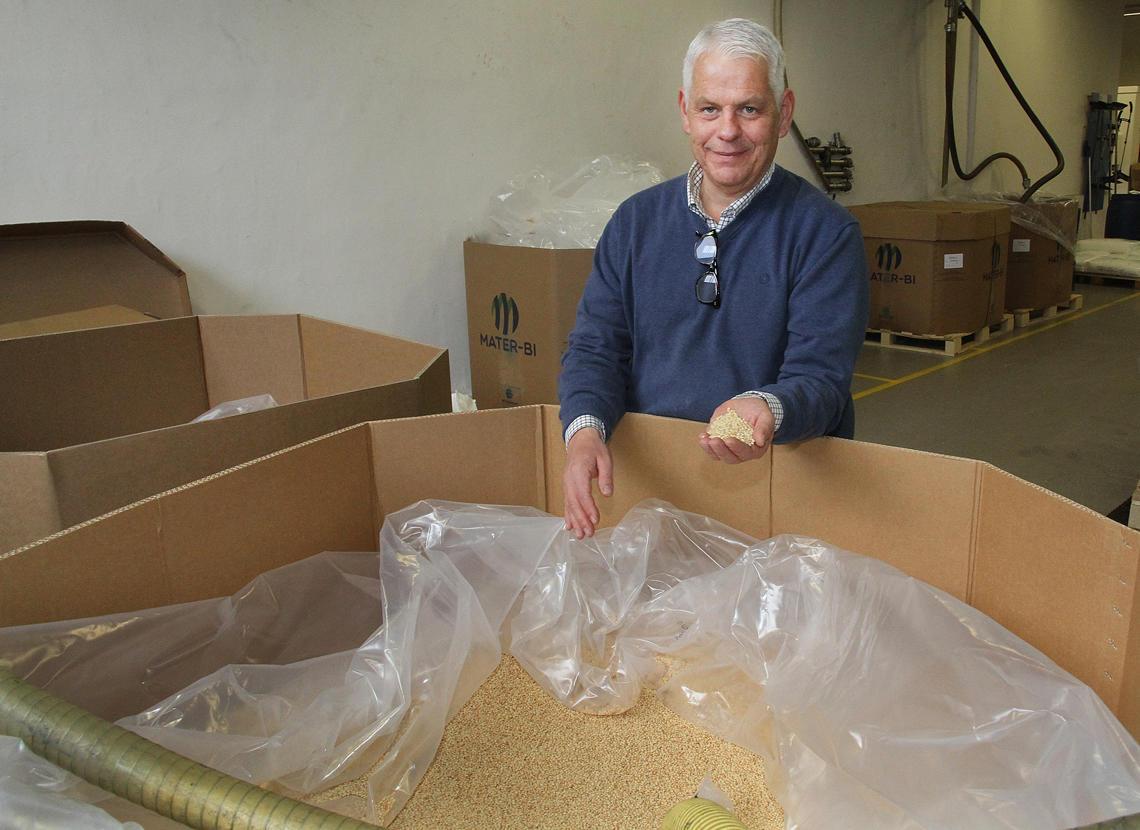 Maisstivelse er en viktig del av innholdet i bioposen.