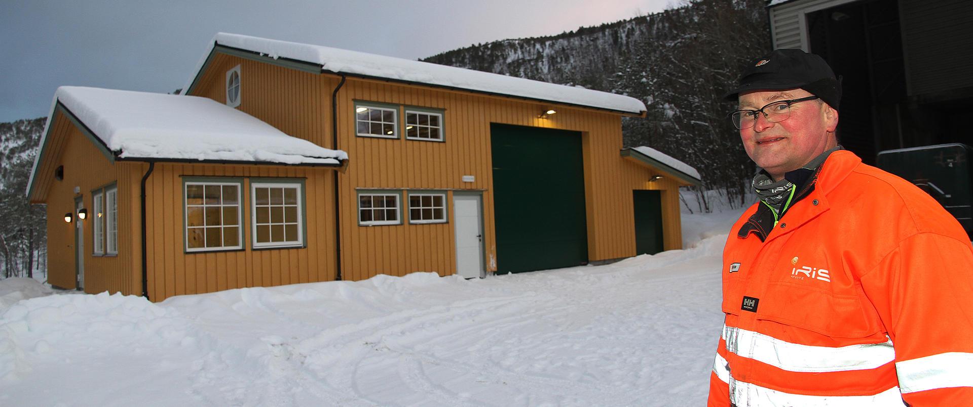 Bård Olsen er fornøyd med det nye bygget.
