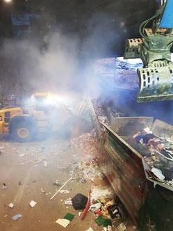 Brann i avfallshallen