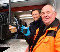 Før og etter rensing av sigevannet fra Esval Miljøpark