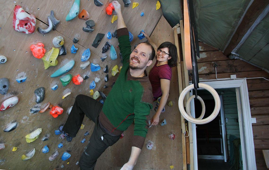I klatreveggen