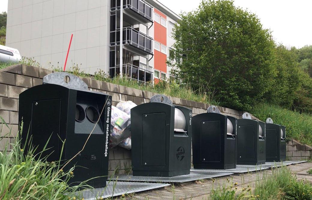 Gamle borettslag med moderne avfallsløsning.