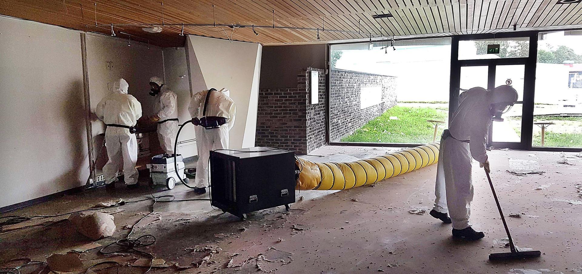 Asbest fjernes fra Aspåsen skole.