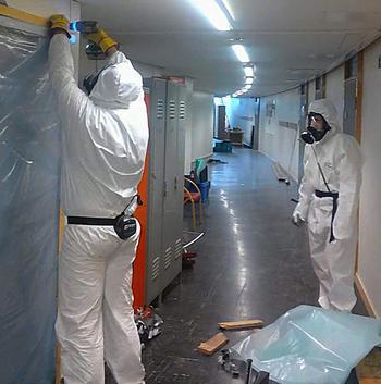 Asbest fjernes fra Aspåsen.