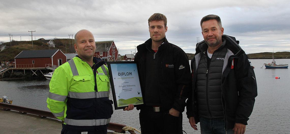 Magne Smådal, Ørjan Pedersen og Anders Tverbakk (t.h.)