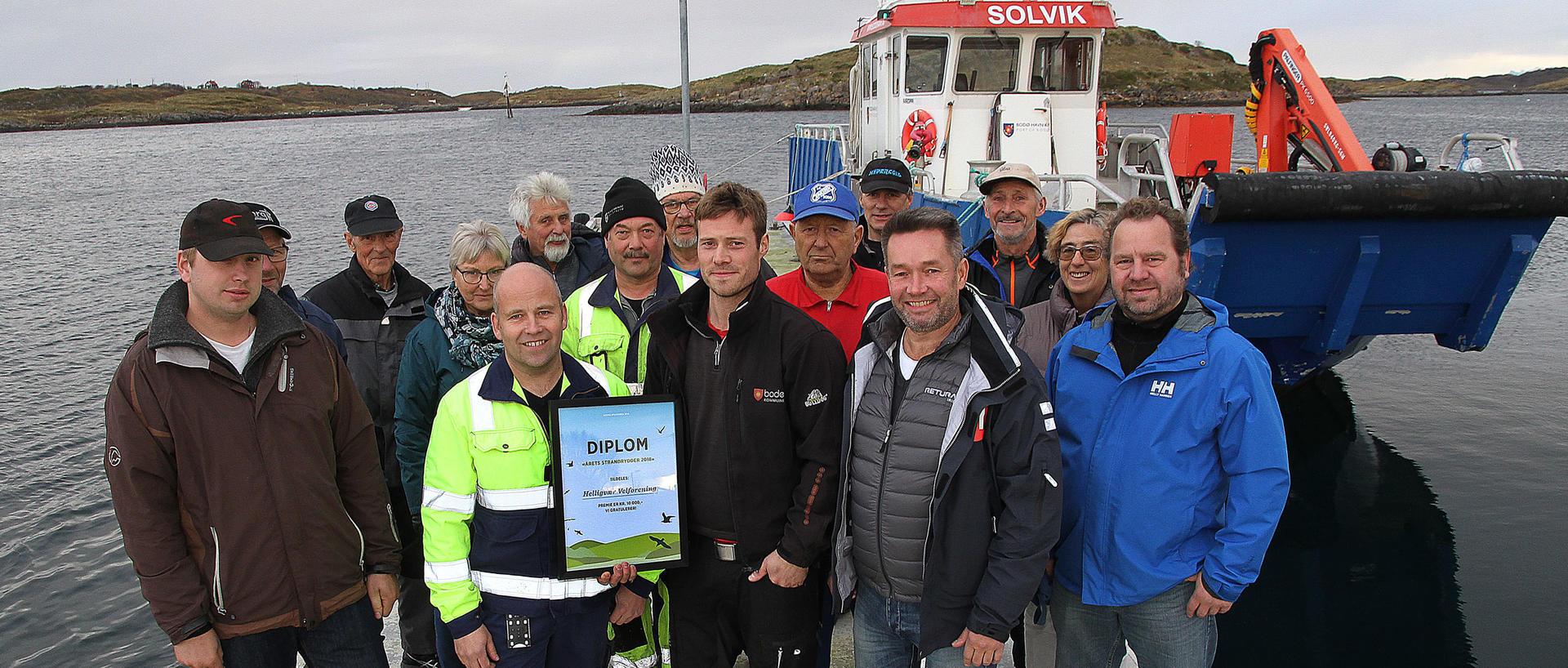 Befolkningen på Helligvær er strandryddere i verdensklasse.