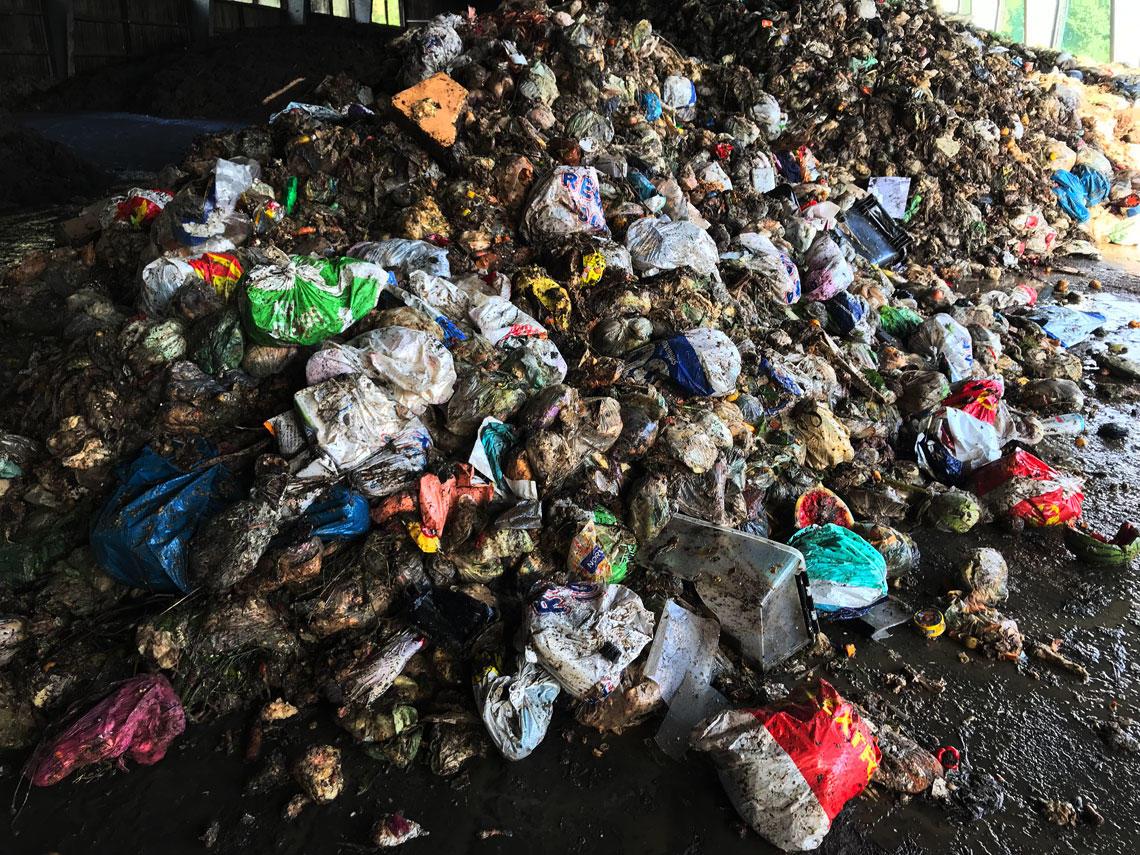 Mye plast i matavfallet