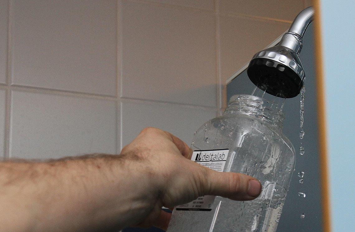Prøve av dusjvann