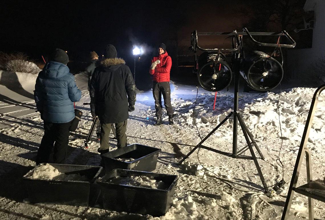 Innspilling av værfilm