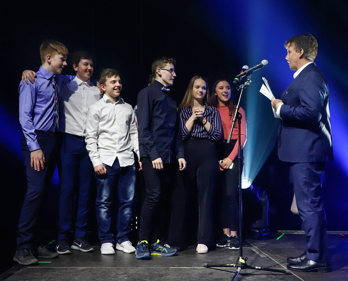 Vinnere av Filmfest 2019 i kategori Miljøfilm. 10. klassinger fra Rognan Ungdomsskole