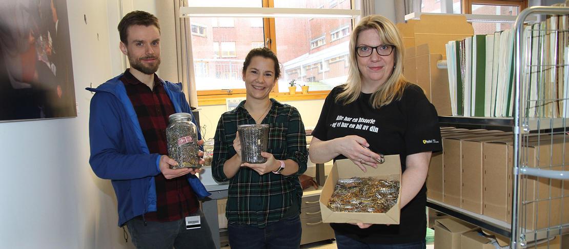 Binders blir gjenvunnet hos Arkiv i Nordland
