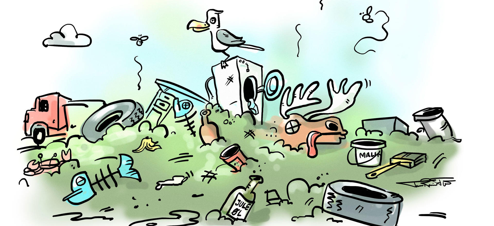 Gammel søppelfylling