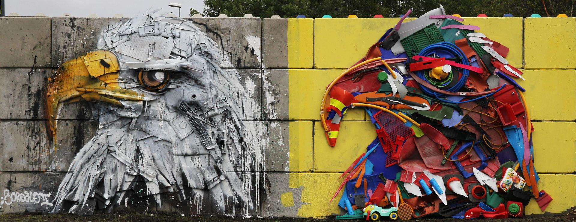 Kunstværket til Bordalo II på Vikan