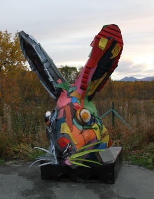 Skulptur på Oppeid