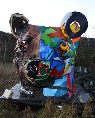 Skulptur på Vensmoen