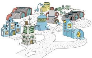 I Blåsterby finnes et helt univers av avfallsbiler.