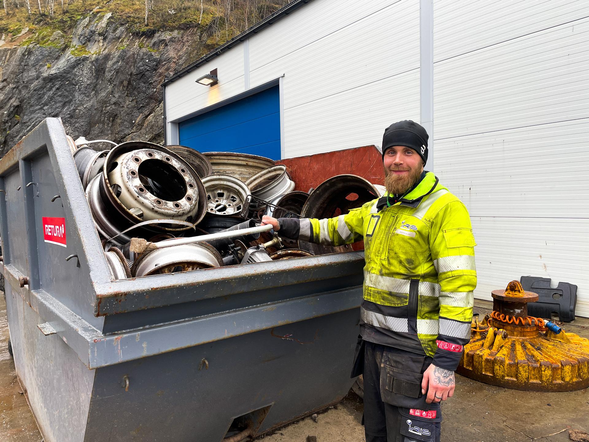 Driftsoperatør ved jern- og metalltomta